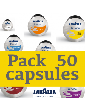 pack 50 capsules lavazza blue